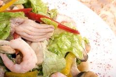 сделанные продукты моря салата стоковое фото