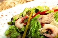 сделанные продукты моря салата стоковая фотография