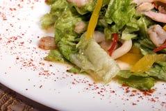 сделанные продукты моря салата стоковая фотография rf