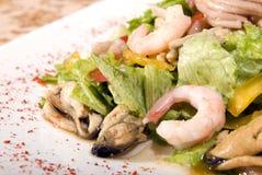 сделанные продукты моря салата стоковые изображения rf
