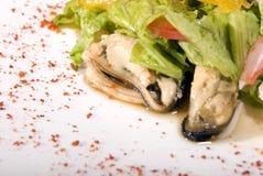 сделанные продукты моря салата стоковые фото