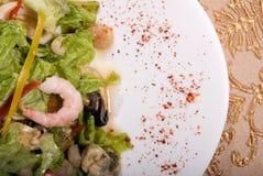 сделанные продукты моря салата стоковое фото rf