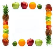 сделанные свежие фрукты рамки стоковые фото