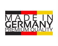 Сделанный в Германии, наградной качественный стикер с немецким цветом Стоковое Изображение RF