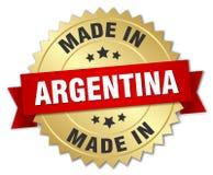 сделанный в значке Аргентины иллюстрация вектора