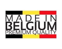 Сделанный в значке Бельгии, наградной качественный стикер с бельгийским цветом Стоковое фото RF
