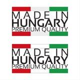 Сделанный в значке Венгрии, наградной качественный стикер Стоковое Фото