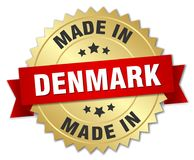 сделанный в значке Дании Стоковые Изображения RF
