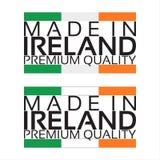 Сделанный в значке Ирландии, наградной качественный стикер с ирландскими цветами Стоковая Фотография RF