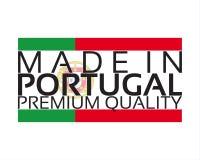 Сделанный в значке Португалии, наградной качественный стикер с португалкой Стоковое Изображение RF