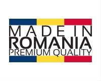 Сделанный в значке Румынии, наградной качественный стикер Стоковые Изображения