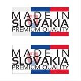 Сделанный в значке Словакии, наградной качественный стикер Стоковая Фотография