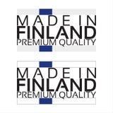 Сделанный в значке Финляндии, наградной качественный стикер с финским цветом Стоковые Фото