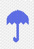 сделанный зонтик raindrops Стоковые Фото