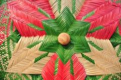 Сделанный магазин корзин Много вид корзины которое сделано бамбука wicker корзины handmade тайский Сплетенная бамбуковая текстура Стоковые Изображения RF