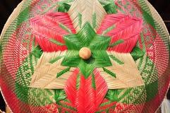 Сделанный магазин корзин Много вид корзины которое сделано бамбука wicker корзины handmade тайский Сплетенная бамбуковая текстура Стоковое фото RF