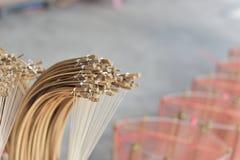 Сделанный магазин корзин Много вид корзины которое сделано бамбука wicker корзины handmade тайский Оно Стоковая Фотография RF