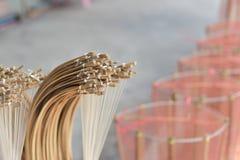 Сделанный магазин корзин Много вид корзины которое сделано бамбука wicker корзины handmade тайский Оно Стоковые Изображения