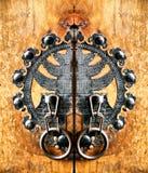 сделанный по образцу металл ручки двери Стоковое Изображение RF
