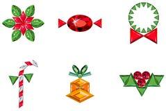 сделанный праздник элементов рождества pre установлено Стоковое Изображение