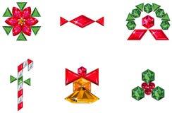 сделанный праздник элементов рождества pre установлено Стоковые Фото