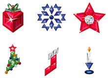 сделанный праздник элементов рождества pre установлено Стоковое Изображение RF