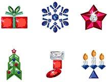сделанный праздник элементов рождества pre установлено Стоковые Изображения RF