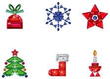 сделанный праздник элементов рождества pre установлено Стоковые Фотографии RF