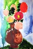 сделанный чертеж ребенка иллюстрация штока