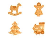 сделанный gingerbread figurines войлока Стоковое фото RF