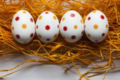 4 сделанных по образцу пасхального яйца Стоковые Фотографии RF