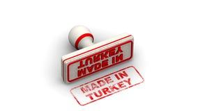 Сделано в Турции Штемпель выходит отпечаток иллюстрация вектора