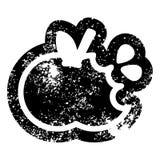 сдержанное яблоко огорчило значок бесплатная иллюстрация