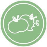 сдержанный значок яблок круговой иллюстрация вектора