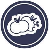 сдержанный значок яблок круговой иллюстрация штока