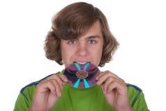 сдерживает подросток показателя диска компьютера Стоковая Фотография RF