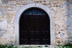 сдобренное деревянное входа старое Стоковые Изображения RF