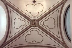 Сдобренный потолок католической церкви в Прага Стоковая Фотография