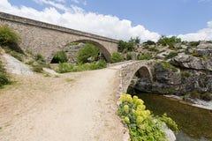 сдобрите мосты Корсику Францию Стоковая Фотография