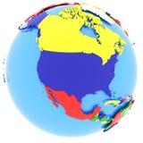 Северная Америка на земле Стоковая Фотография