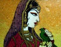 Северная индийская каменная картина Стоковые Изображения RF