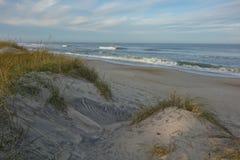Северная Каролина дезертировала пляжи от песчанных дюн Стоковая Фотография RF
