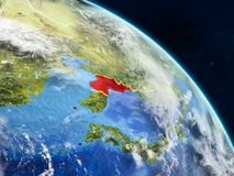 Северная Корея от космоса иллюстрация вектора