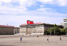 СЕВЕРНАЯ КОРЕЯ, ПХЕНЬЯН - 26-ОЕ СЕНТЯБРЯ 2017: Квадрат Kim Il-Sung Стоковое Фото