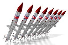 Северная Корея, ракеты Стоковая Фотография