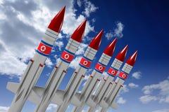 Северная Корея, ракеты Стоковые Изображения RF