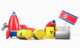 Северная Корея - угроза Стоковая Фотография RF