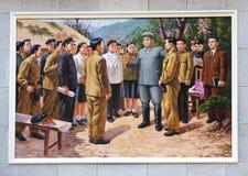 СЕВЕРНАЯ КОРЕЯ, PYHENSON, 19-ОЕ СЕНТЯБРЯ 2017: изображение с Ким Il s Стоковые Изображения RF