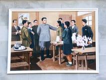 СЕВЕРНАЯ КОРЕЯ, PYHENSON, 19-ОЕ СЕНТЯБРЯ 2017: изображение с Ким Il s Стоковая Фотография