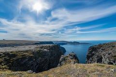 Северная накидка в Finnmark, северной Норвегии Стоковое фото RF